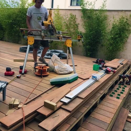 Pose de terrasse en bois & composite
